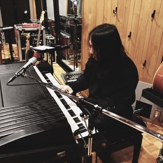 playing the Rhodes Piano