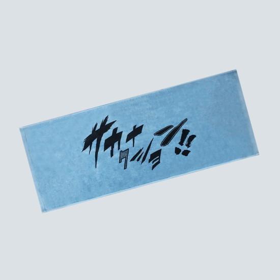 COMIC FONT  FACE TOWEL/Blue